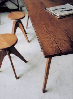 Stools and worktable