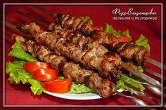Шашлык. Мой вариант маринада к мясу на шампурах на мангале.