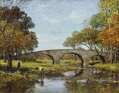 Theodore Robinson - The Old Bridge [1890]