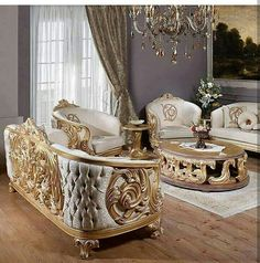 - Architecture and Home Decor - Bedroom - Bathroom - Kitchen And Living Room Interior Design Decorating Ideas - Royal Furniture, Classic Furniture, Home Decor Furniture, Luxury Furniture, Furniture Design, Rustic Furniture, Luxury Dining Room, Luxury Living, Luxury Sofa