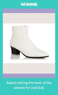 00ac3b63d George at Asda is selling this season's key shoe trend - the white boot -  for