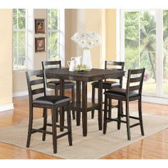 Crown Mark 5-Piece Counter Height Dining Set