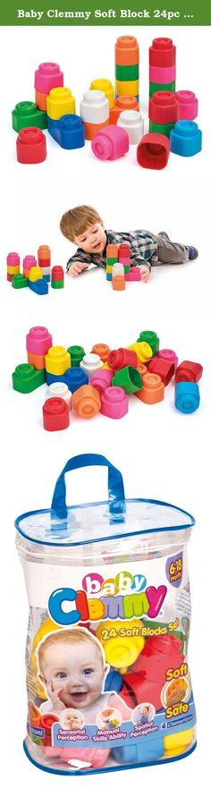 c6de9849974 Baby Clemmy Soft Block 24pc Zip Bag Building Construction Toy. Soft