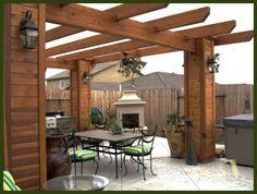 Backyard Pergola Designs. Very pretty!
