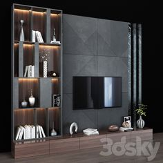 Modern Tv Unit Designs, Living Room Tv Unit Designs, Living Room Wall Units, Modern Tv Units, Ikea Living Room, Tv Wall Unit Designs, Living Rooms, Modern Tv Wall, Corner Sofa Design