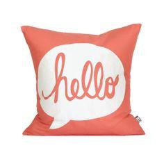 HELLO Pillow Cover // Silk Screen Coral by michelledwight Coral Pillows, Cute Pillows, Diy Pillows, Throw Pillows, Textiles, Design Textile, Pillow Talk, New Room, Decoration