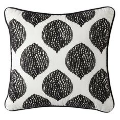 "Threshold™ Decorative Pillow With Black Spots Cream 18x18"" With black couch and recliners? $14.98"