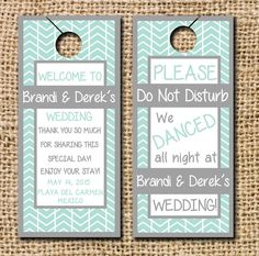 15 Double Sided Door Hangers by CamilleMonacoDesigns on Etsy