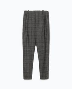 CHECK TROUSERS from Zara