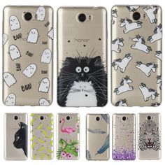 Lovely Animal Cat Unicorn Silicon Case for Huawei Y5 II / Y6 II Compact /Honor 5A LYO-L21 Cover Soft TPU Transparent Phone Cases