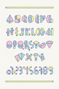 D / Lettering + BIG TOY Typeface by Vicente García Morillo, via Behance