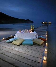 Romantic beach dock