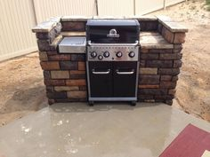 """Outstanding """"built in grill patio"""" info is readily available on our internet site. Take a look and you wont be sorry you did. Outdoor Grill Area, Patio Grill, Diy Grill, Clean Grill, Backyard Patio, Pergola Patio, Patio Roof, Diy Patio, Outdoor Barbeque"""