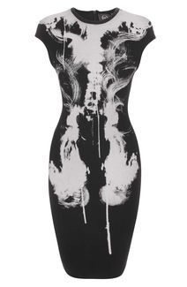X-cellent dress Black X-Ray Cap Sleeve Dress by Alexander McQueen 2012