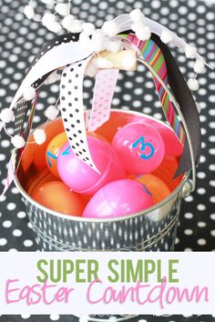 Super Simple Easter Countdown #easter #countdown from howdoesshe.com