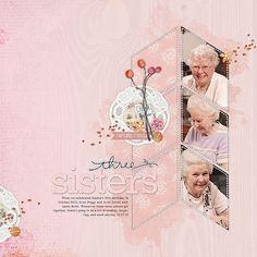 gorgeous #scrapbook page with simple but effectove layers by Linda at DesignerDigitals.com #shopDesignerDigitals