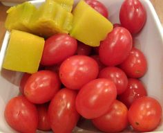 Pumpkim and cherry tomato