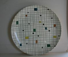 RAREST CROWN LYNN MOSAIC PLATE. Everyday Dishes, Vintage Dishes, Vintage Textiles, Dinnerware, Mosaic, Sweet Home, Mid Century, Pottery, Kids Rugs