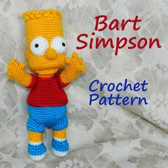 Crochet Pattern. Bart Simpson von InspiredCrochetToys auf Etsy, $8.00