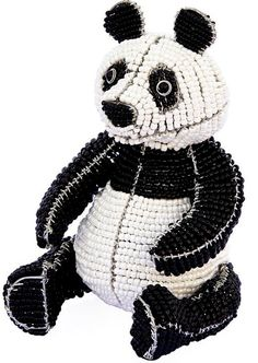 "Amazon.com: Custom & Unique {7.5 x 5"" Inch} 1 Single, Medium Home & Garden ""Standing"" Figurine Decoration Made of Grade A Glass & Galvanized Wire w/ Beautiful Chinese Panda Bear Style {Black, & White}: Home & Kitchen"