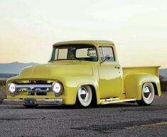 American Pickup Trucks, Vintage Pickup Trucks, Ford Pickup Trucks, Chevy Trucks, Ford 56, 1956 Ford Truck, 1956 Ford F100, Hot Rod Trucks, Cool Trucks