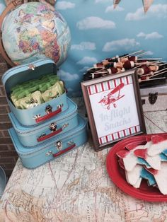 Travel or Airplane Birthday Party Ideas - love this vintage look!