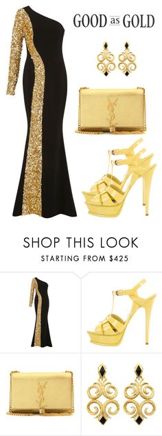 """""""Good asw gold"""" by semir-damira ❤ liked on Polyvore featuring Elizabeth Kennedy and Yves Saint Laurent"""