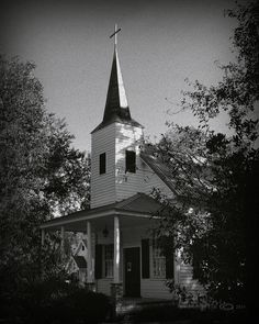 Church Behind The Trees