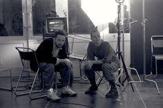 David Fincher and Sigourney Weaver take a break together on the Pinewood Studios set of ALIEN 3 in 1991 via Love Scenes, Behind The Scenes, Alien Resurrection, Sigourney Weaver, David Fincher, Aliens Movie, Love Film, Alien Vs, Movie Props