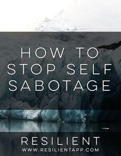 How to Stop Self Sabotage #sabotage #selfsabotage #stopsabotaging #selfsabotaging
