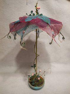 Discover more regarding Fairy Backyard Umbrella Miniature Patio Show Fairy Gardens Fairies Furnishings