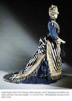 love the tassel trim!  1876 ish stripey goodness