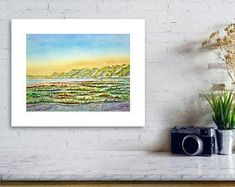 Original Watercolor and Acrylic Paintings & Prints by KathrynMDuncan Great Paintings, Small Paintings, Nature Paintings, Acrylic Paintings, Painting Prints, Original Paintings, Beach Wall Art, Summer Landscape, Local Artists