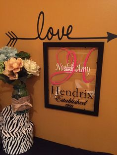 Family Name Sign Wedding Gift Picture Frame by ArtsyWallsAndMore