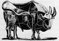 Bull (plate IV) - Pablo Picasso, 1945 (Museum of Modern Art, New York, USA), Wikipaintings