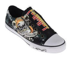 Ed Hardy LR BANGKOK Kids Canvas Top Sneaker Shoes