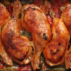 Serve these crispy grilled chicken legs over vegetables.. Easy Baked Chicken Legs Recipe from Grandmothers Kitchen.