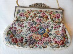Maria Stransky Studio Vienna Needlepoint Evening Bag Purse   eBay