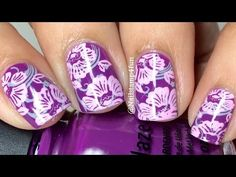 Foral Mani double stamping: Nail Stamping - YouTube