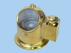 Brass Binnacle Compass w/ Oil Lamp Nautical Decor from Handcrafted Nautical Decor - In stock and ready to ship Nautical Compass, Nautical Theme, Nautical Home Decorating, Decorating Ideas, Nautical Kitchen, Vintage Compass, Classic Sailing, Sea Witch, Tall Ships