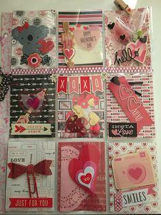 Valentine themed pocket letter for pocket letter swap.