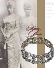 Glittering Wedding gifts to Thyra Duchess of Cumberland in 1878 – is there a secret about her diamond choker? Is it a gift of the Emperor of Austria – or was it presented from her royal family…. Princess Thyra of Denmark Crown Princess of Hanover  Duchess of Cumberland   Royal Wedding Imperial Marriage GiftsGuelph Princess Thyra of Denmark Crown Princess of Hanover  Duchess of Cumberland   Royal Wedding Imperial Marriage Gifts koechert diamond choker royal jewel history jewellery…