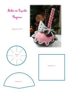 Cupcake de Feltro 1-2
