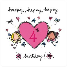 Happy Birthday – Birthday Cards, Messages, Sayings, Images, Greetings Happy Birthday Cousin Female, Happy 4th Birthday, Happy Birthday Cards, Birthday Greetings, 50th Birthday, Girl Birthday, Baby Birthday Wishes, Birthday Girl Quotes, Birthday Poems