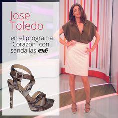 Así de guapa presentó José Toledo su programa el otro día :) Con estas sandalias de tacón con un #animalprint que tanto nos gusta.