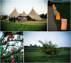 after dark Tipi wedding outdoors wedding