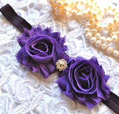Shabby Old Hollywood Glam stretch headband in by TutusChicBoutique, $12.50