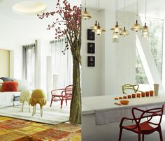 Tom Dixon Pressed Glass lights- all versions used. Available at Property Furniture. http://propertyfurniture.com/collection/lighting/glass-pendants-series/