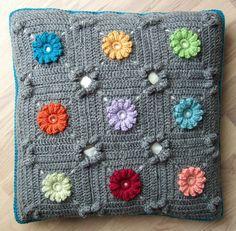 crochet pillow by solgrim, via Flickr