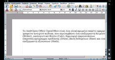 - ΤοAndrOpen Office είναι ένα ολοκληρωμένο πακέτο εφαρμογών γραφείου ανοιχτού κώδικα. που περιλαμβάνει ένα επεξεργαστή Κειμένου (Writer) υπολογιστικό Φύλλο (Calc) δημιουργό παρουσιάσεων (Ιmpress) πρόγραμμα σχεδίασης (Draw) βάση δεδομένων (Base) και επεξεργαστή εξισώσεων (Math). - Λειτουργεί σε όλες τις γνώστες πλατφόρμες λειτουργικών συστημάτων ενώ υποστηρίζει άψογα και την ελληνική γλώσσα χάρη στην προσπάθεια των εθελοντών και πολλών χρηστών. Διαθέτει την ίδια λειτουργικότητα με άλλα…